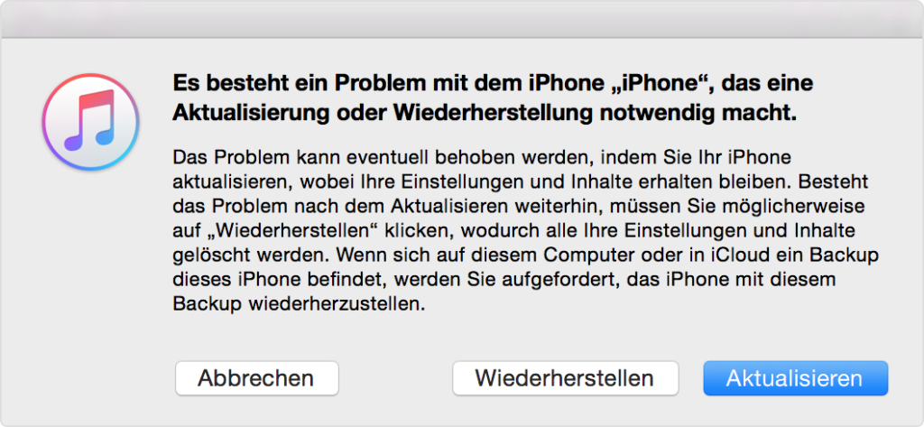 iphone aktualisierung
