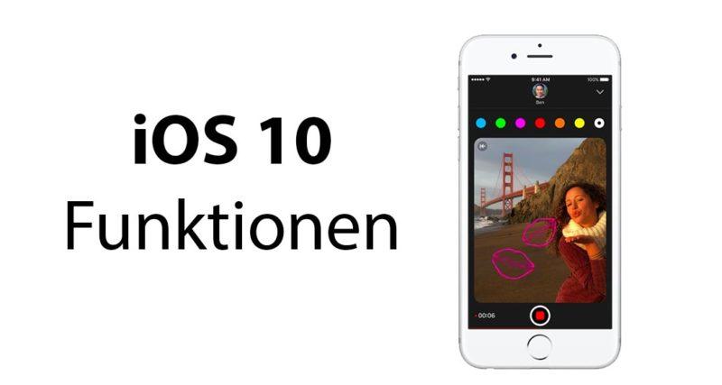 ios 10 funktionen