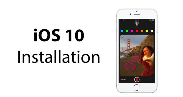 ios 10 installation