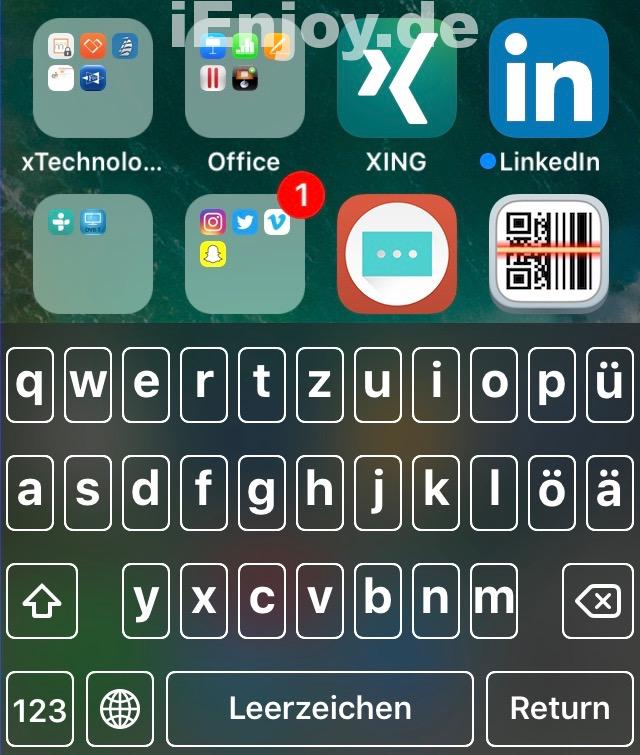 ios 10 keyboard tastatur