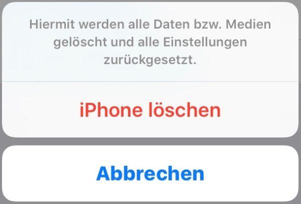 iphone zurücksetzen