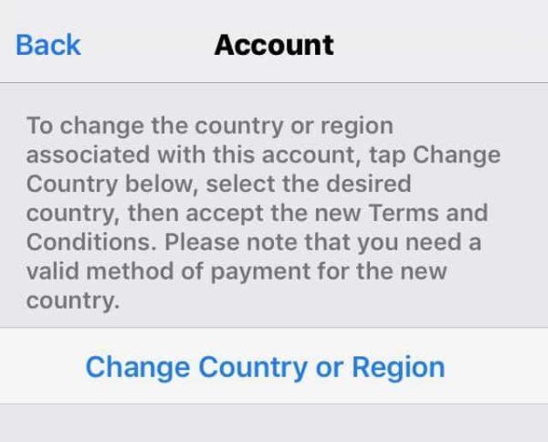App Store Land Ändern