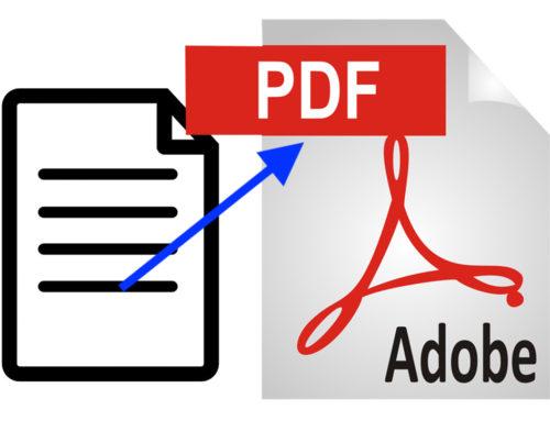 Wie konvertiere ich ein Dokument in eine PDF-Datei? PDF erstellen.
