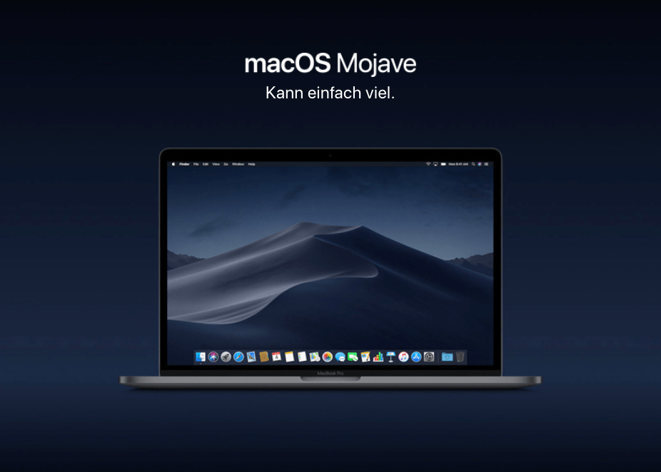 macOS Mojave dunkle Modus