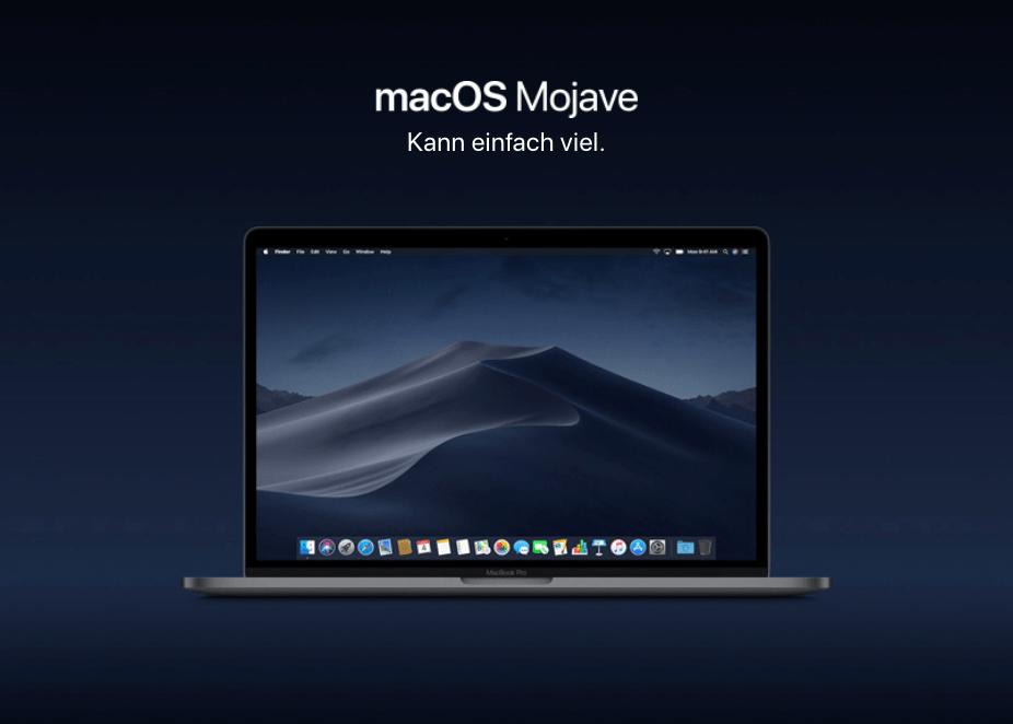 macOS Mojave dunkle Modus