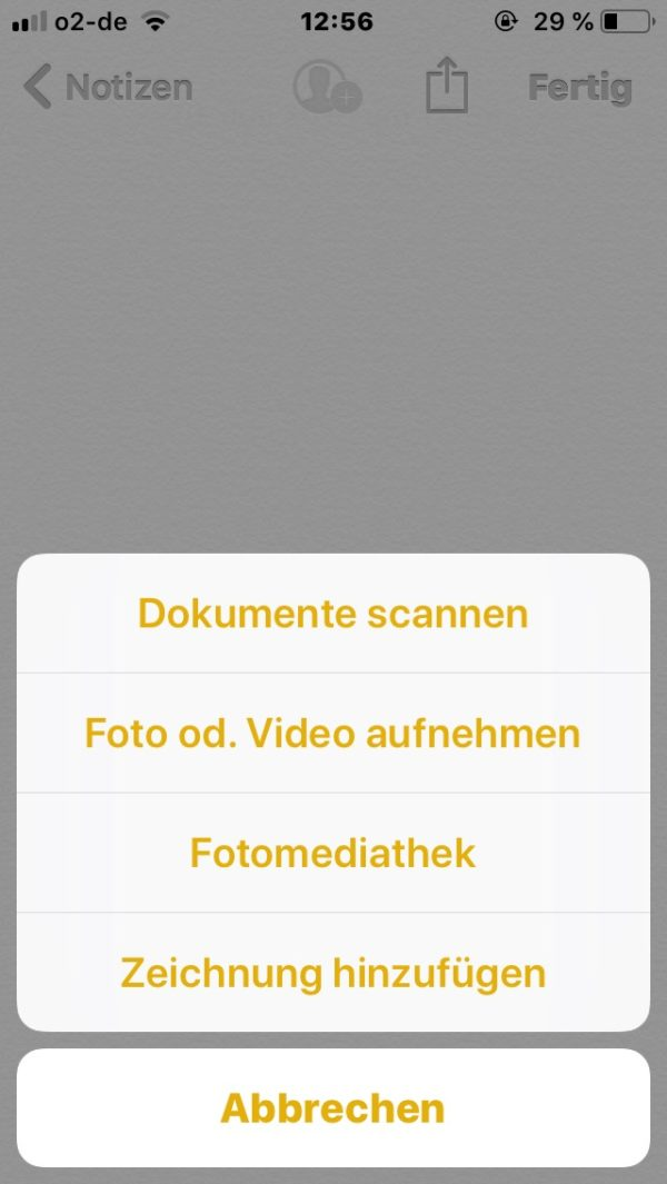scannen iphone