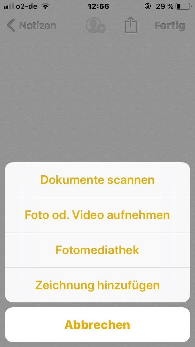 scannen iphone