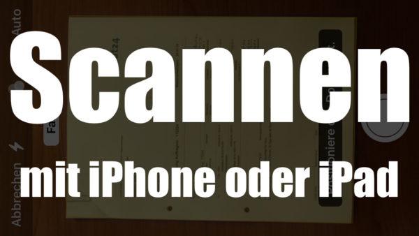scannen mit ipad
