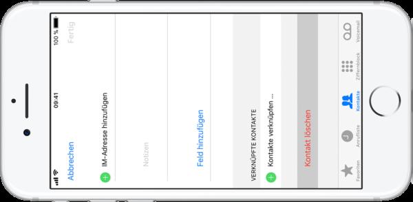 löschen kontakte iphone