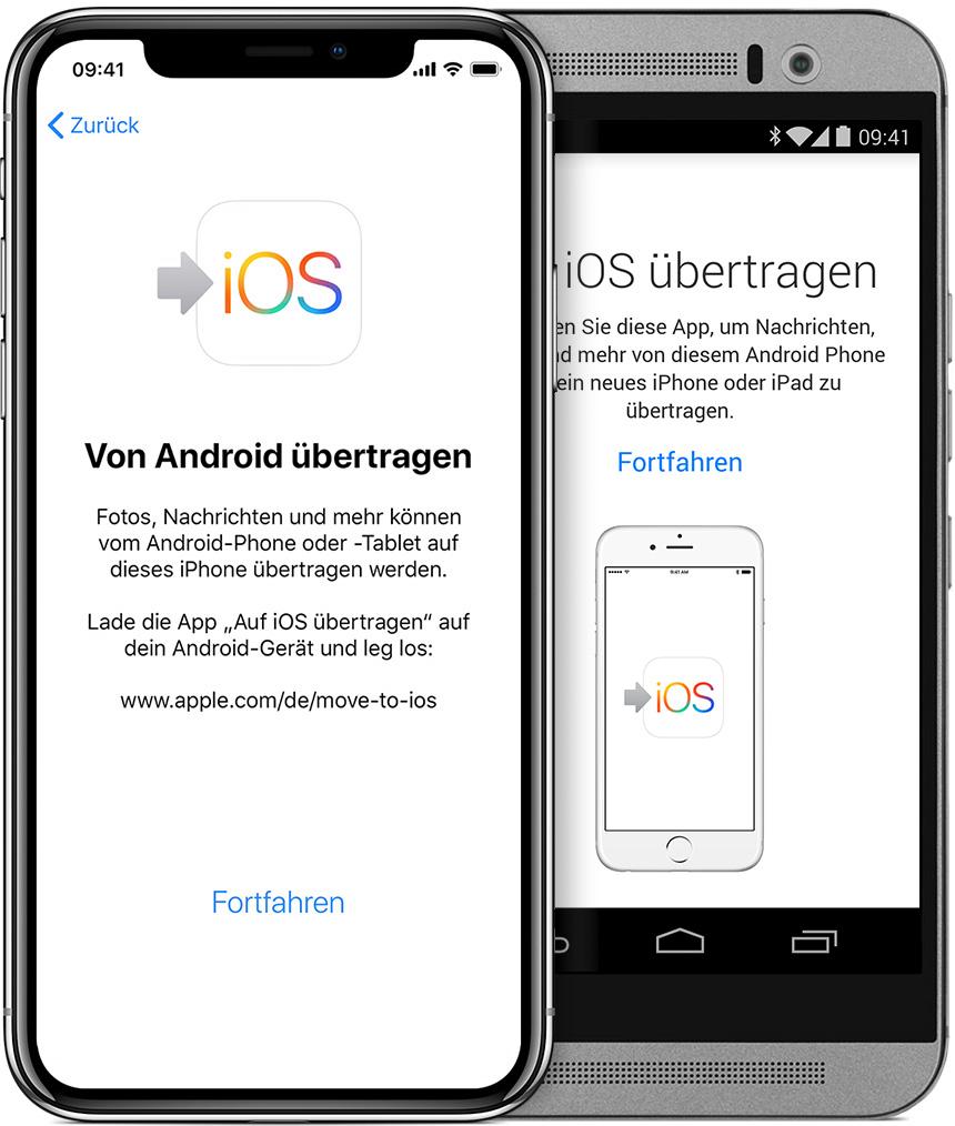 android daten nachträglich auf iphone übertragen
