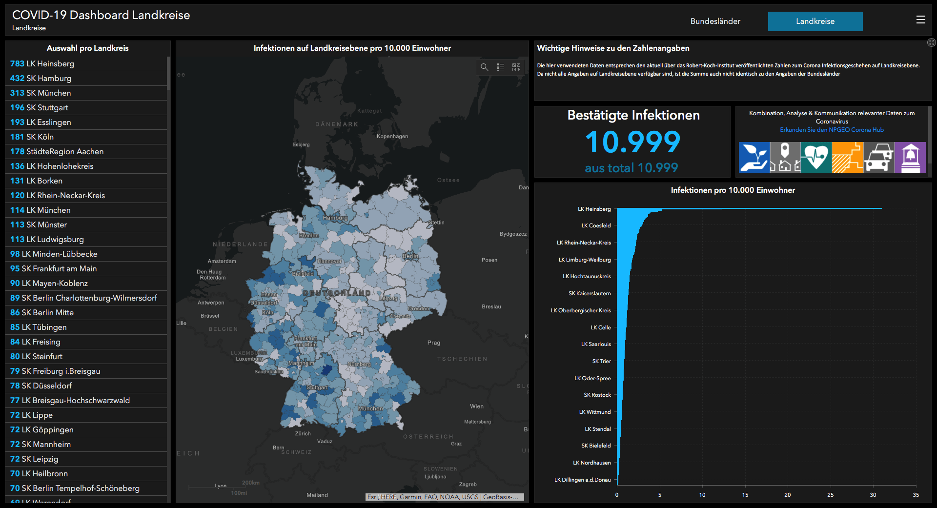 Coronavirus in Deutschland Interaktive Karte