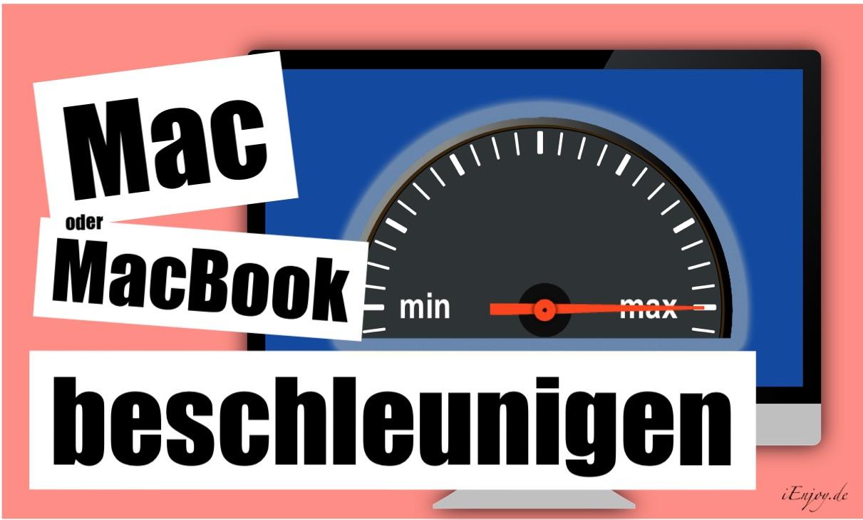 mac beschleunigen
