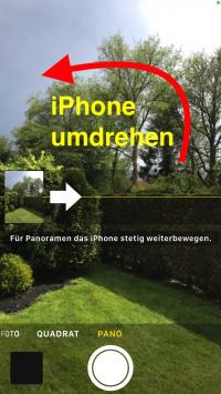 vertikales Panorama iPhone